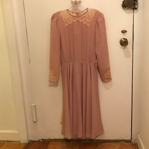 Exquisite Vintage Dress & Slip! EUC!